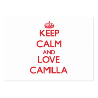 Keep Calm and Love Camilla Business Card Templates