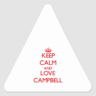 Keep calm and love Campbell Sticker