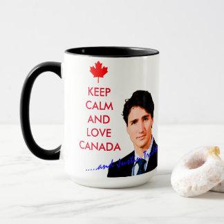 Keep Calm and love Canada and Justin Trudeau Mug