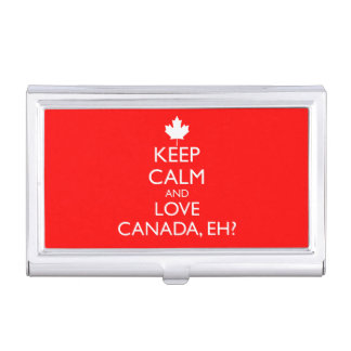 KEEP CALM AND LOVE CANADA, EH? BUSINESS CARD CASE