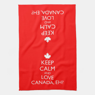KEEP CALM AND LOVE CANADA, EH? HAND TOWELS
