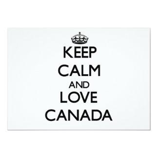 Keep Calm and Love Canada 5x7 Paper Invitation Card