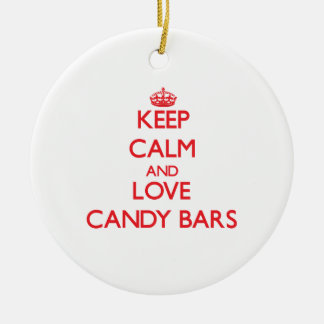 Keep calm and love Candy Bars Ornament