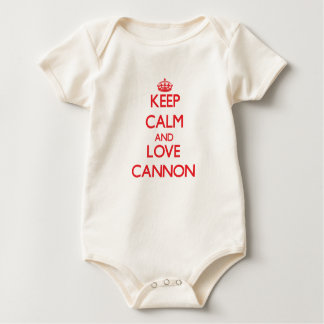 Keep calm and love Cannon Baby Bodysuit