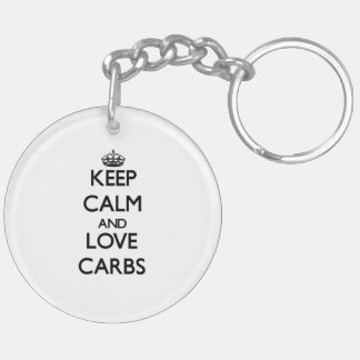 Keep calm and love Carbs Key Chain