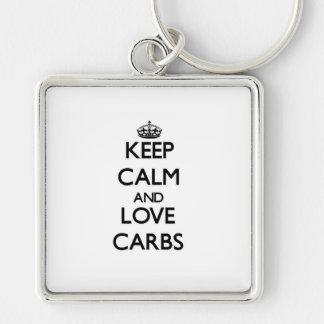 Keep calm and love Carbs Key Chains