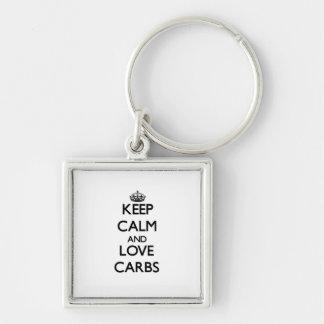 Keep calm and love Carbs Keychains