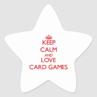 Keep calm and love Card Games Stickers