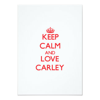 Keep Calm and Love Carley Announcements