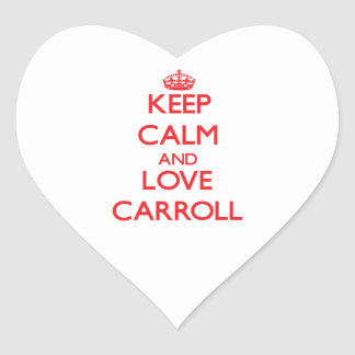Keep calm and love Carroll Stickers