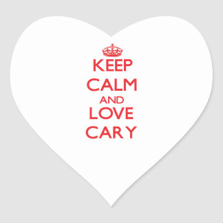 Keep Calm and Love Cary Sticker