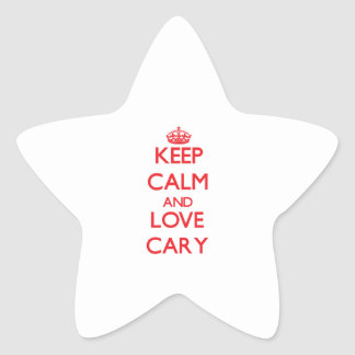 Keep Calm and Love Cary Star Sticker