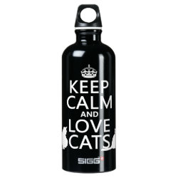 SIGG Traveller Water Bottle (0.6L) with Keep Calm and Love Cats design