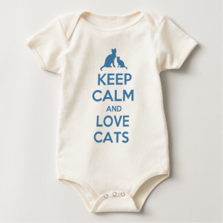 Keep Calm and Love Cats Baby Bodysuit