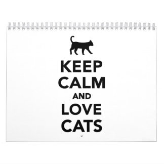 Keep calm and love cats calendar