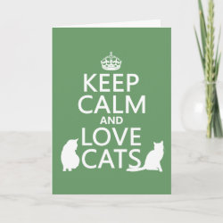 with Keep Calm and Love Cats design