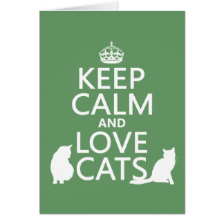 Keep Calm and Love Cats Cards
