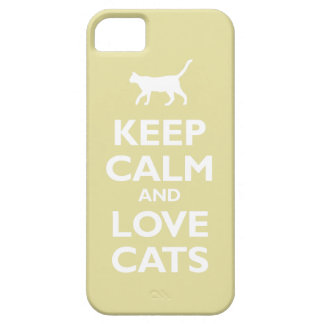 Keep Calm and Love Cats (chardonnay) iPhone SE/5/5s Case