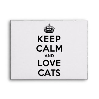 Keep Calm and Love Cats Envelope