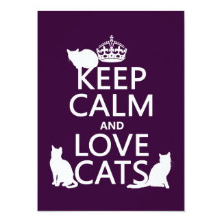 Keep Calm and Love Cats (in any color) Card