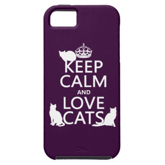 Keep Calm and Love Cats (in any color) iPhone 5 Case