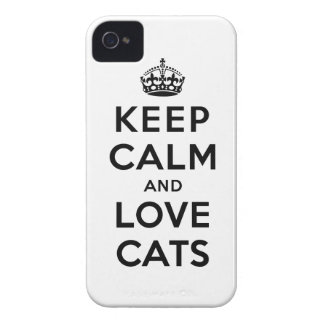 Keep Calm and Love Cats iPhone 4 Case