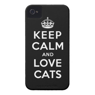 Keep Calm and Love Cats iPhone 4 Cover