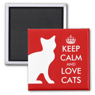 Keep calm and love cats magnet | Customizable