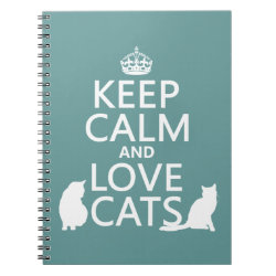 Photo Notebook (6.5' x 8.75', 80 Pages B&W) with Keep Calm and Love Cats design