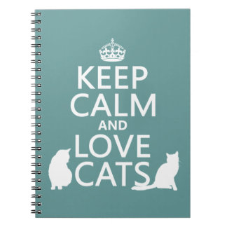Keep Calm and Love Cats Notebook