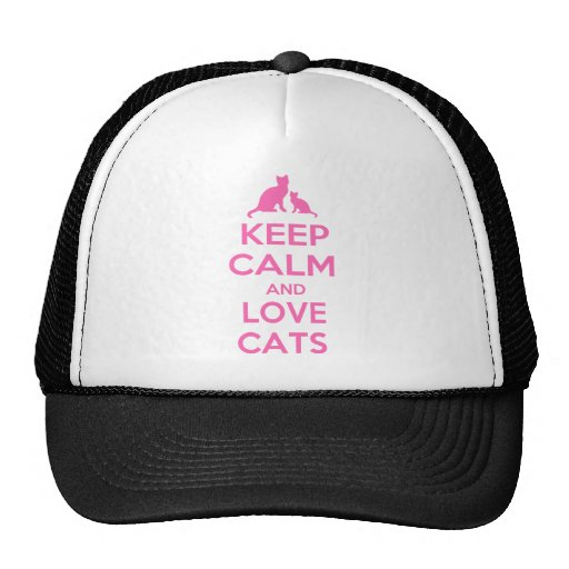 Keep Calm and Love Cats Trucker Hat