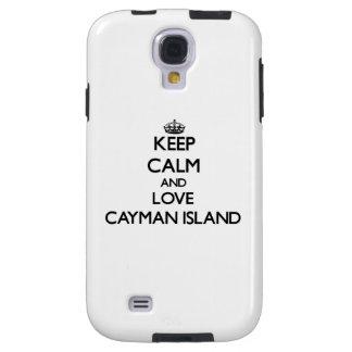Keep Calm and Love Cayman Island Galaxy S4 Case