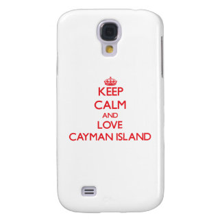Keep Calm and Love Cayman Island Samsung Galaxy S4 Cases