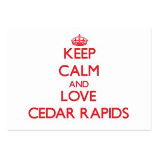 Keep Calm and Love Cedar Rapids Business Cards