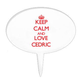 Keep Calm and Love Cedric Cake Toppers