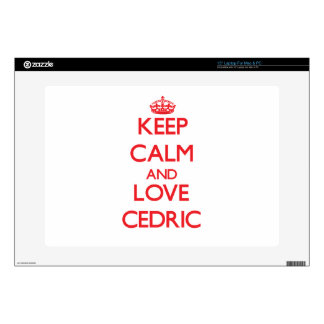 Keep Calm and Love Cedric Decal For Laptop