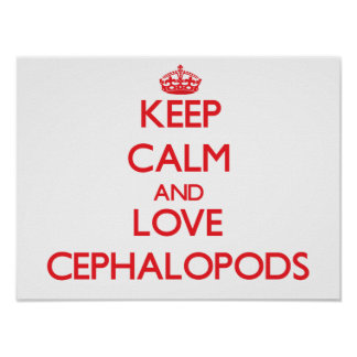 Keep calm and love Cephalopods Posters