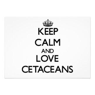 Keep calm and Love Cetaceans Custom Invites