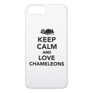 Keep calm and love chameleons iPhone 7 plus case