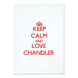 Keep Calm and Love Chandler Card