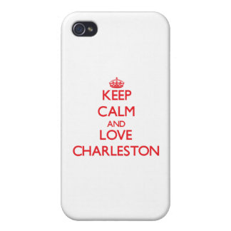 Keep Calm and Love Charleston Cases For iPhone 4