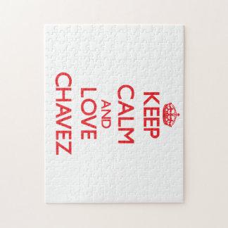 Keep calm and love Chavez Jigsaw Puzzle