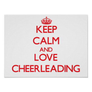 Keep calm and love Cheerleading Poster