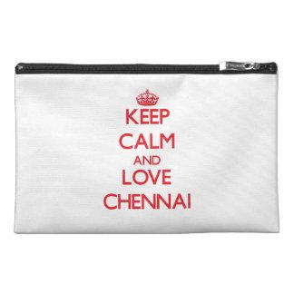 Keep Calm and Love Chennai Travel Accessory Bags