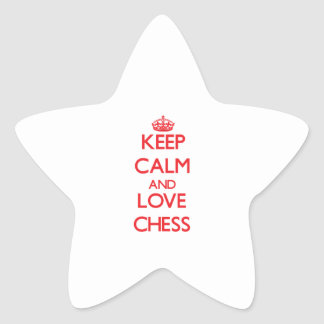Keep calm and love Chess Stickers
