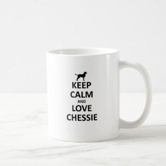 Keep calm and love chessie coffee mug