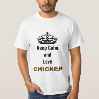 Keep calm and love chicken T-Shirt