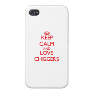 Keep calm and love Chiggers Covers For iPhone 4