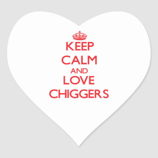 Keep calm and love Chiggers Sticker