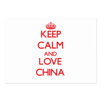 Keep Calm and Love China Business Card Templates